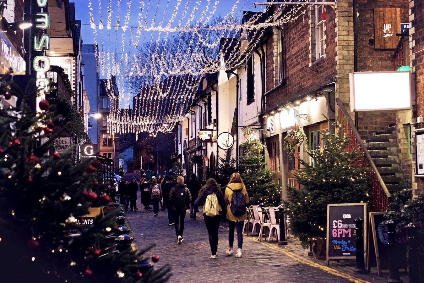 Ashton Lane at Christmas