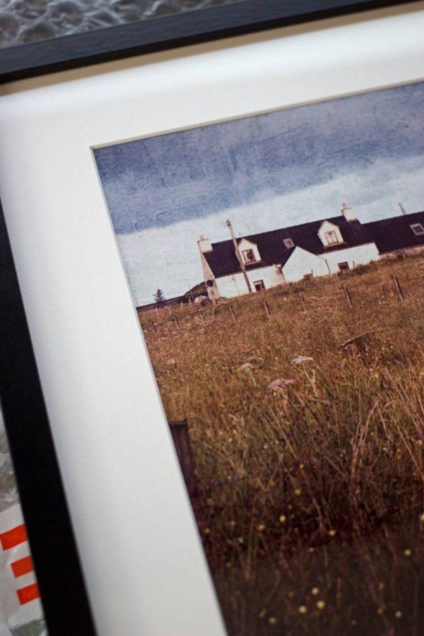Framed photo of Isle of Lewis Cottage