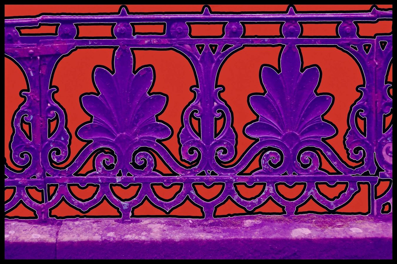 Abstract pattern developed from cast iron railings