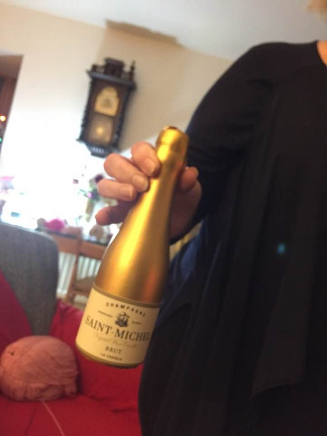 Pat celebrating Hogmanay