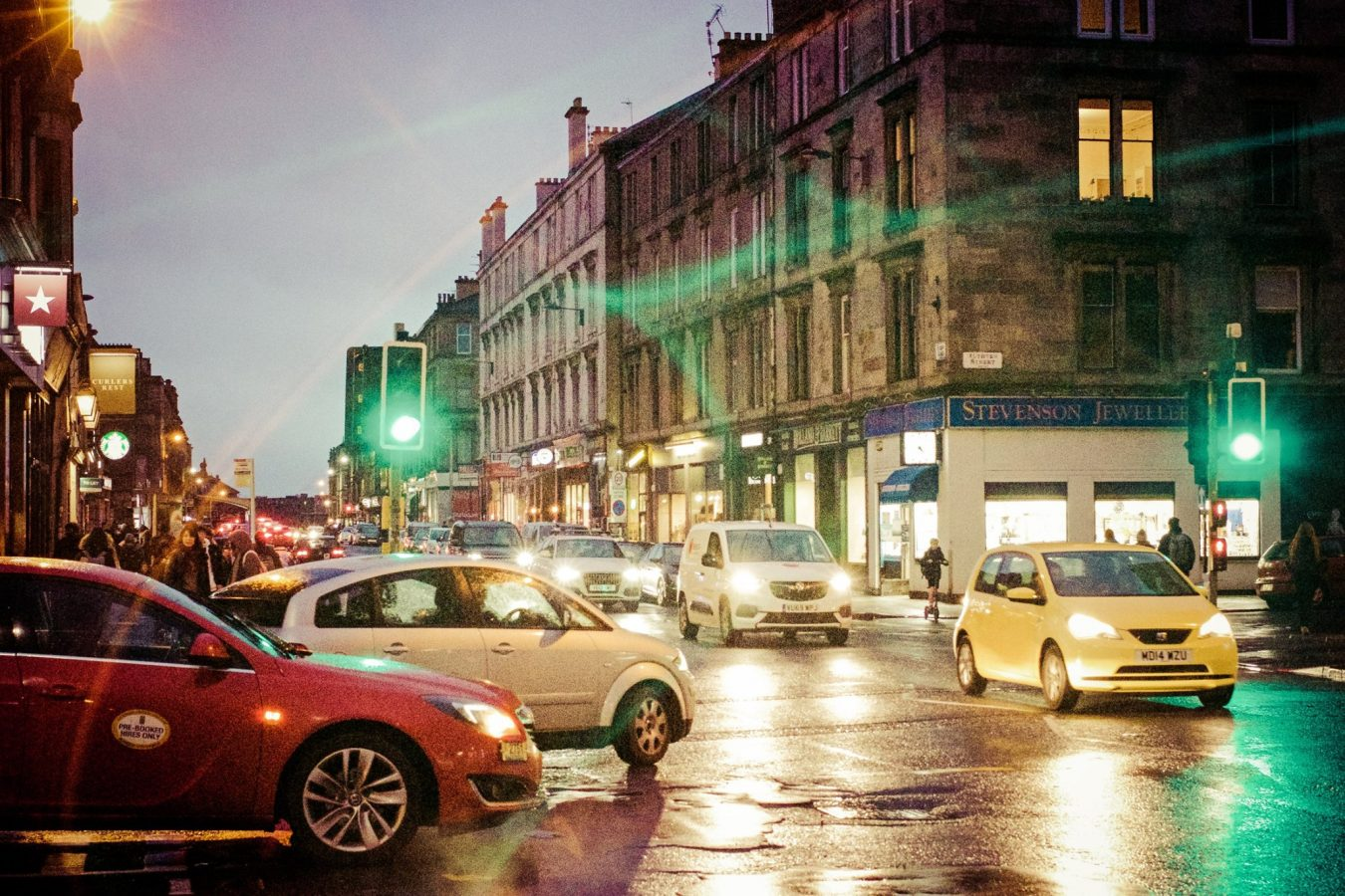 Colourful & busy Byres Road.