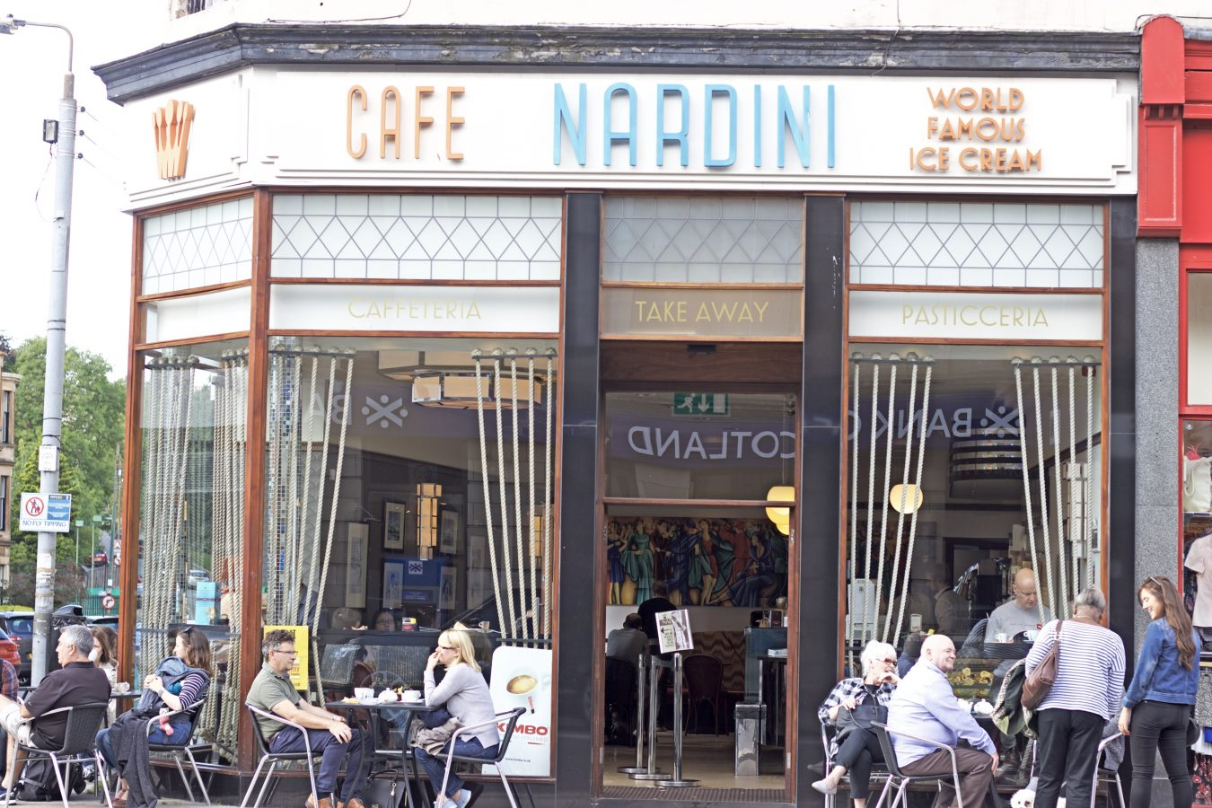 The new Nardini Cafe on Byres Road