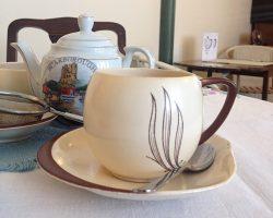 Vintage tearoom, teacup, saucer