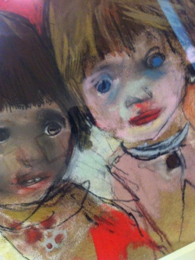 Joan Eardley kids in painting