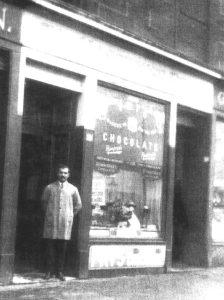 Mosshouse Rest cafe, owner in doorway
