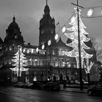 Christmas Lights George Square, Glasgow