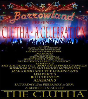 clutha barrowland 15th Feb