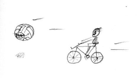 Bike and football