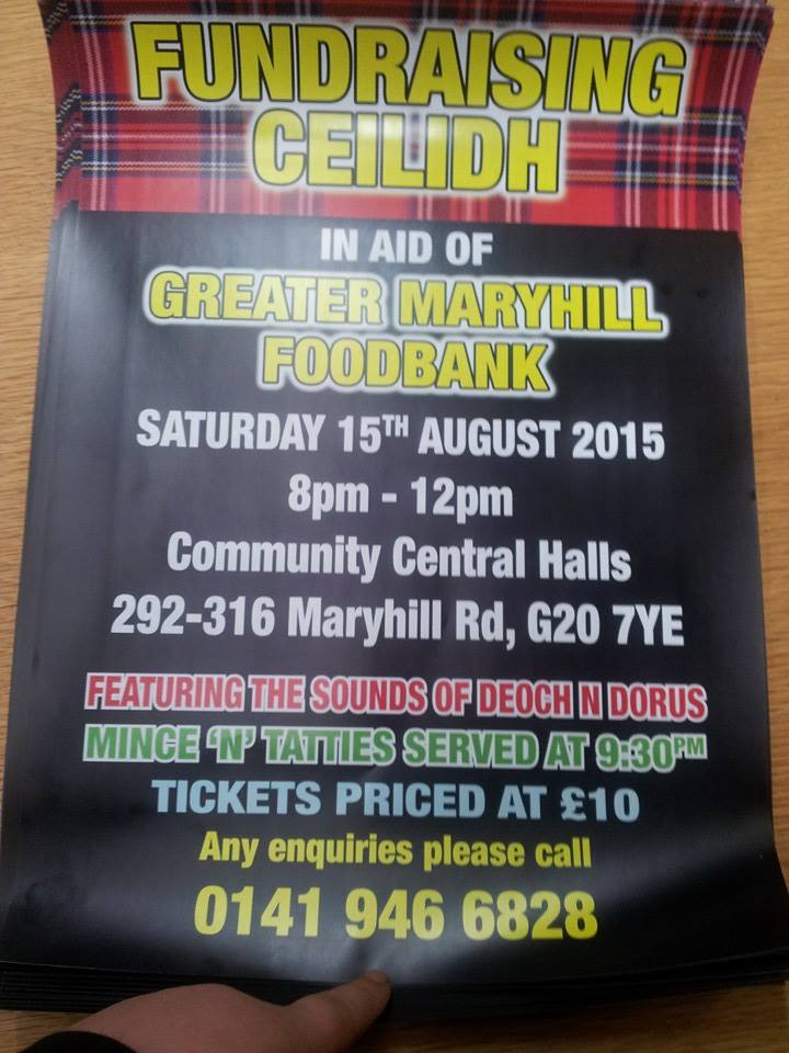 ceilidh maryhill foodbank