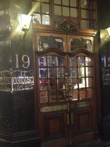 London fancy old wooden door