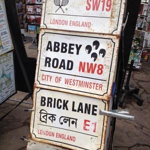 Abbey Road sign Portobello Market