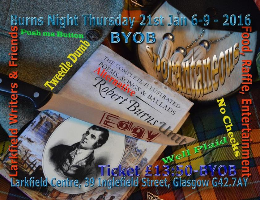 burns night larkfield writers' group. govanhill