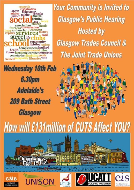 glasgow public hearing cuts to services