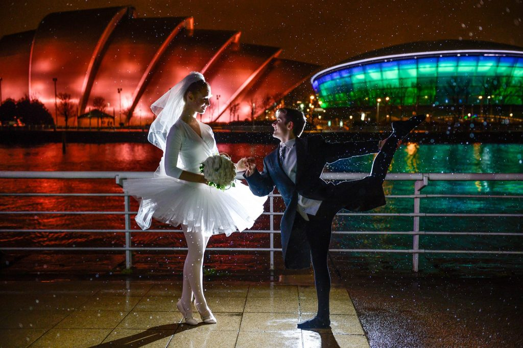 The Scottish Wedding Show 'leaps' back into Glasgow - (L-R)Jodi Alexander and Mark D'Arcy -7