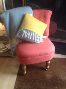 colourful chair and cushion