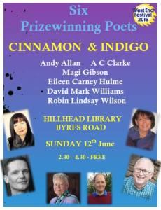 magi gibson and cinnamon and indigo poetry reading