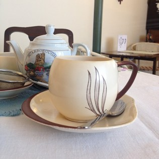 Cup and Saucer Vintage Cafe