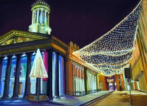 Christmas Lights, Royal Exchange Square by Lynn Howarth