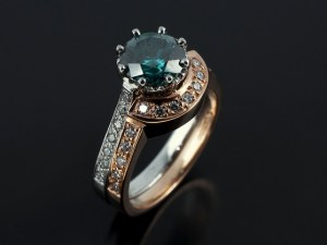green diamond wedding ring