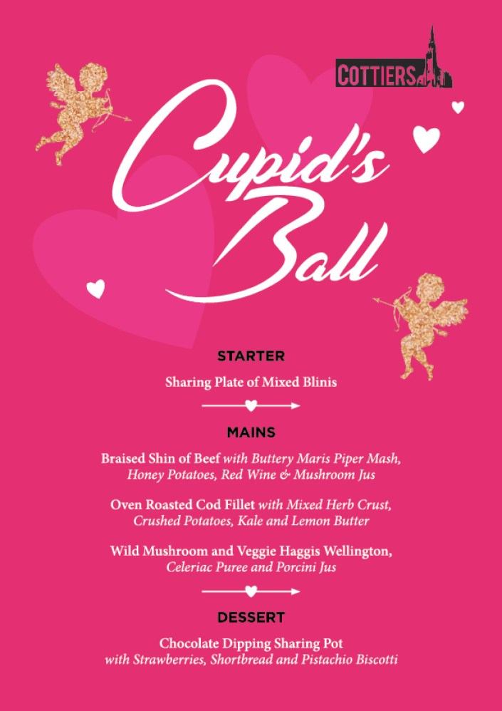 menu cupids ball