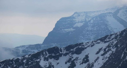 Murky Conditions on Liathach
