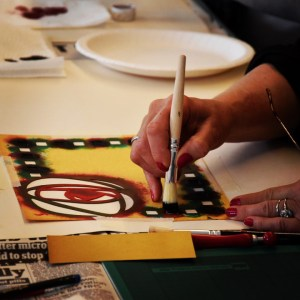 stencilling workshop