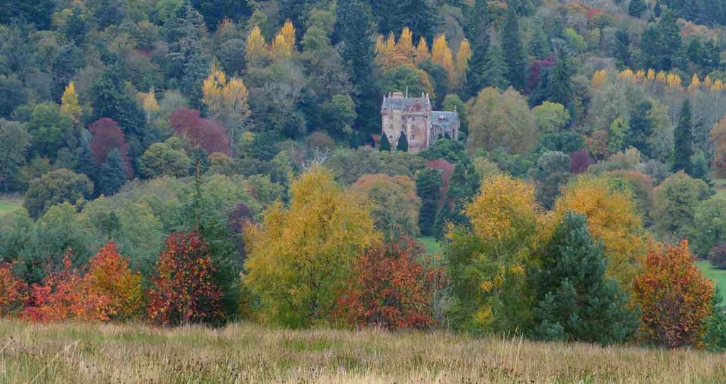 Autumn Colours. Castle Leod. Strathpeffer in October