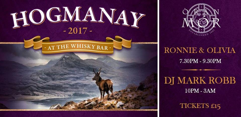 hogmanay whisky bar