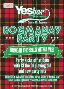 yes bar hogmanay