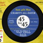 45s for 45 All Day Fundraiser, Old Toll Bar, Glasgow