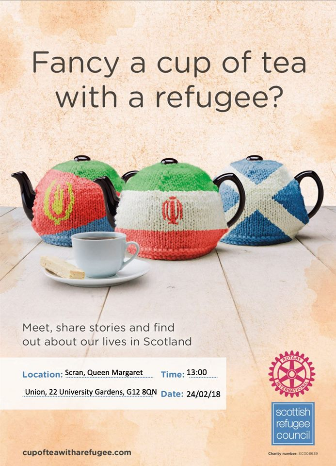 fancy a cup of tea with a refugee