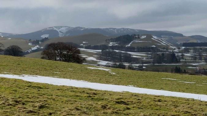 Rolling Landscape Near The Pentlands