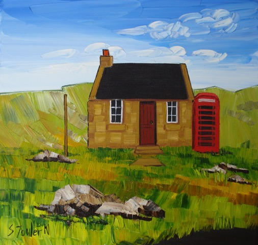 Old Post Office Harris 30 x 30cm