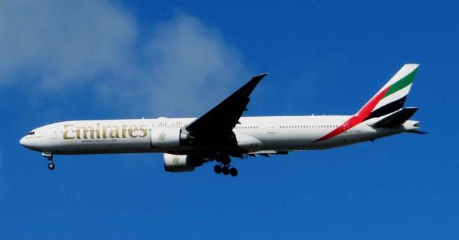 Emirates Airline Plane. Glasgow