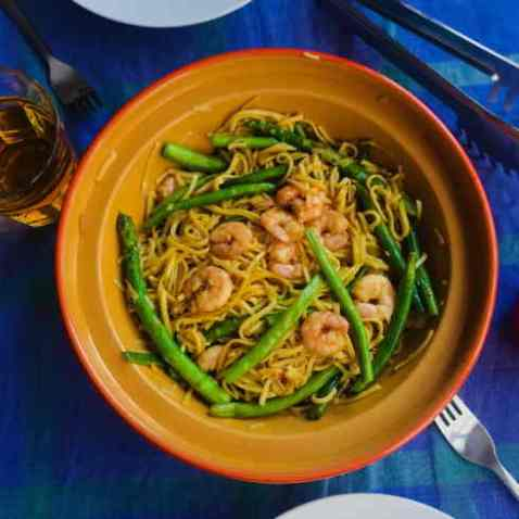 prawn asparagus stir fry