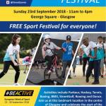 #Beactive Festival, George Square, Glasgow
