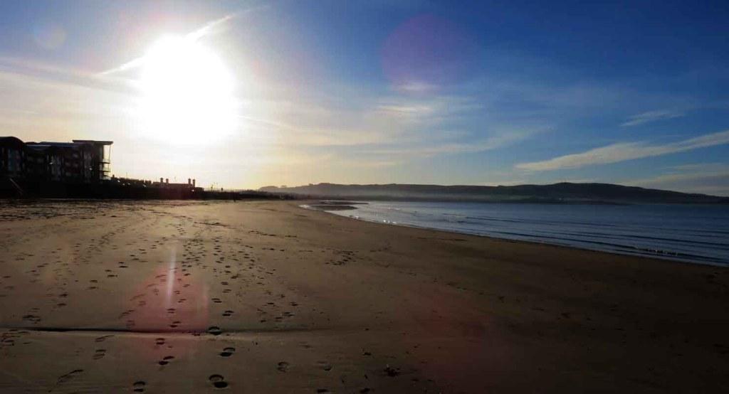 Ayr Beach. Winter Light