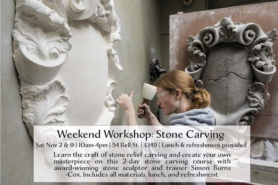 weekend workshop stone carving