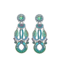 ayala bar statement turquoise earrings