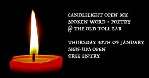 candle light open mic spoken word