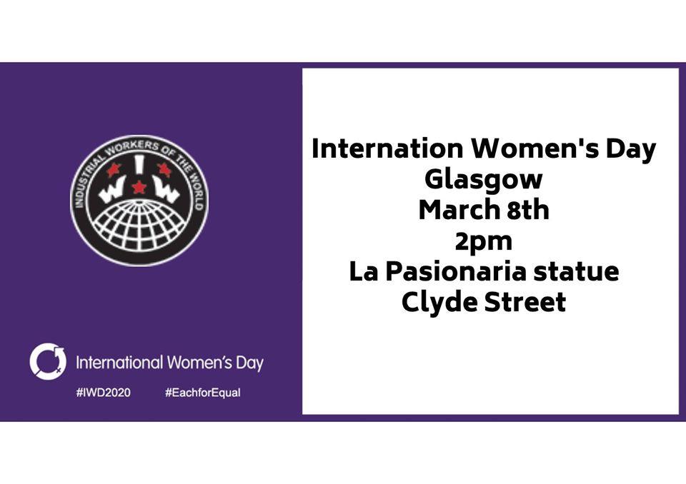 international womens day march glasgow