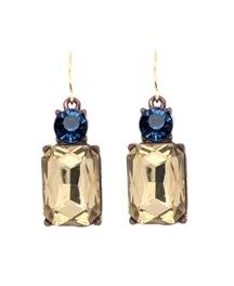 vintage stye square earrings