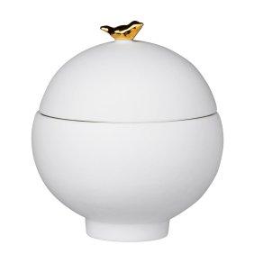 porcelain bird jar