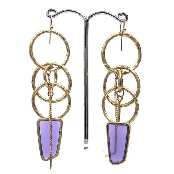 erinigium purple earrings