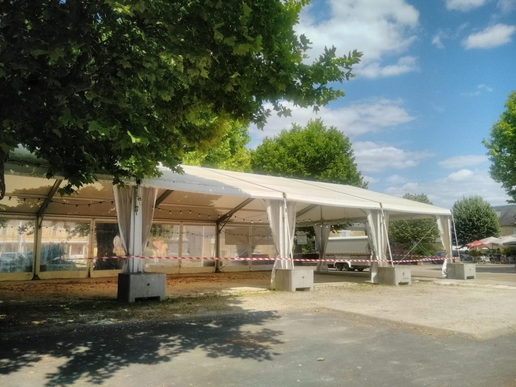 the new mayor tent