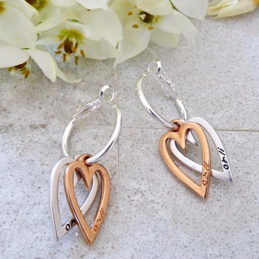 twin heart earrings