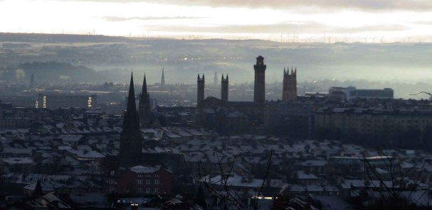 Glasgow's Church Spires in January Light