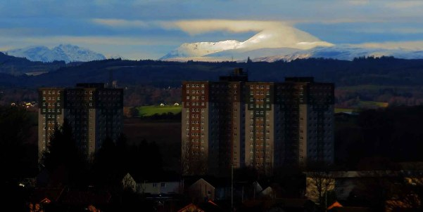 Winter Afternoon. Ben Lomond From Springburn in Glasgow
