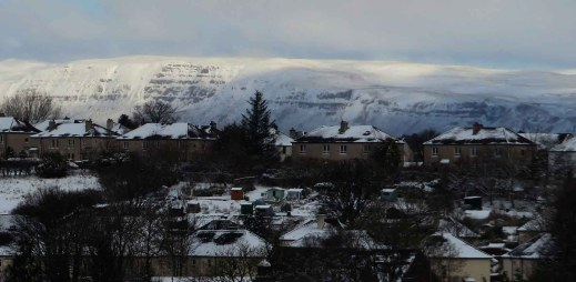 Cliffs of The Campsie Fells and Allotments