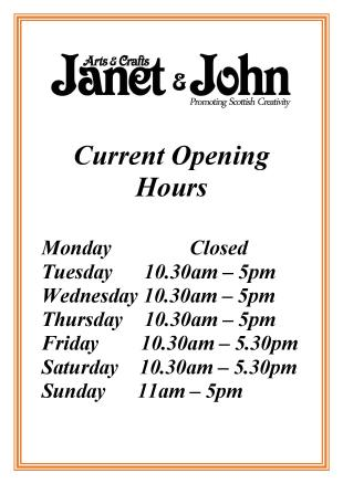 opening hours janet and john